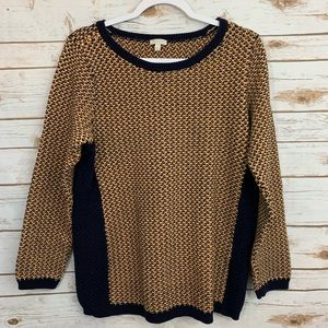 Talbots Heavy Winter Casual Side Stripe Sweater L